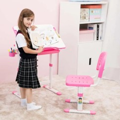 Girls Pink Desk Chair Kid Table And Set Singapore Beautiful For  Best Quality Children