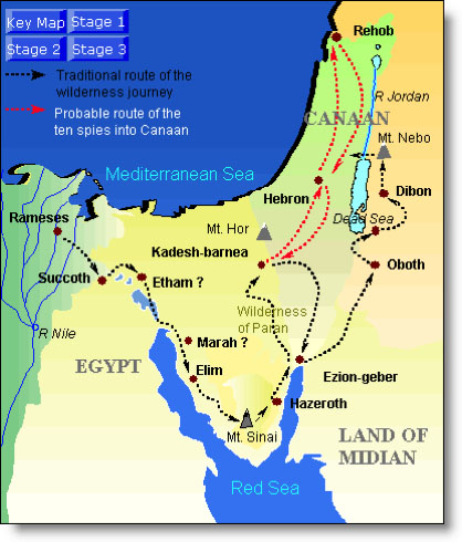 Midian Map