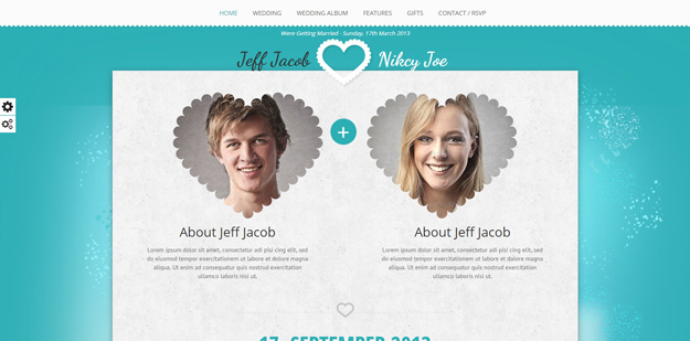 Html Wedding Website Templates For