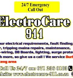 electrocare 911 logo [ 1366 x 768 Pixel ]