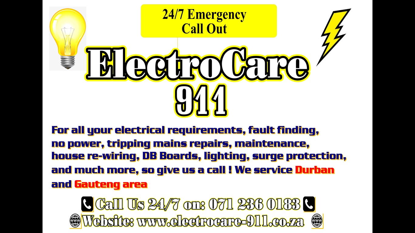 hight resolution of electrocare 911 logo
