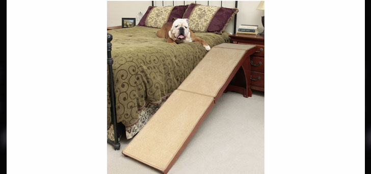 Pet Supplies Solvit 25″ Bedside Cherry Finished Carpet Pet Dog Ramp Review