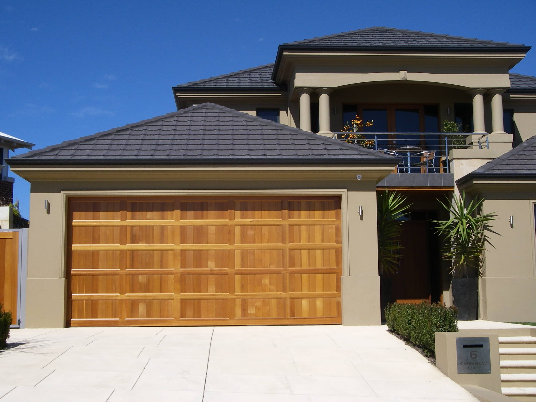 Danmars Classic Panel Solid Cedar Garage Door  Best Doors