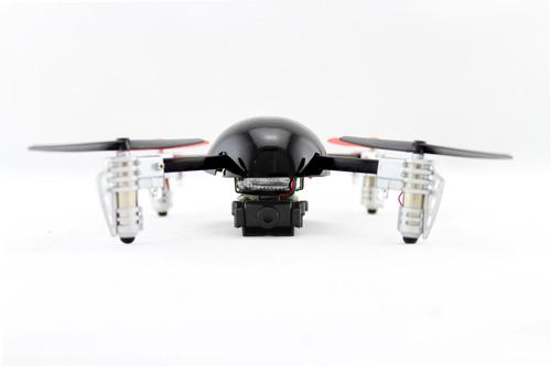 Extreme Fliers Micro Drone nero e rosso su sfondo bianco