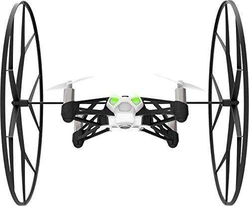 drone bianco con inserti verdi e paraurti