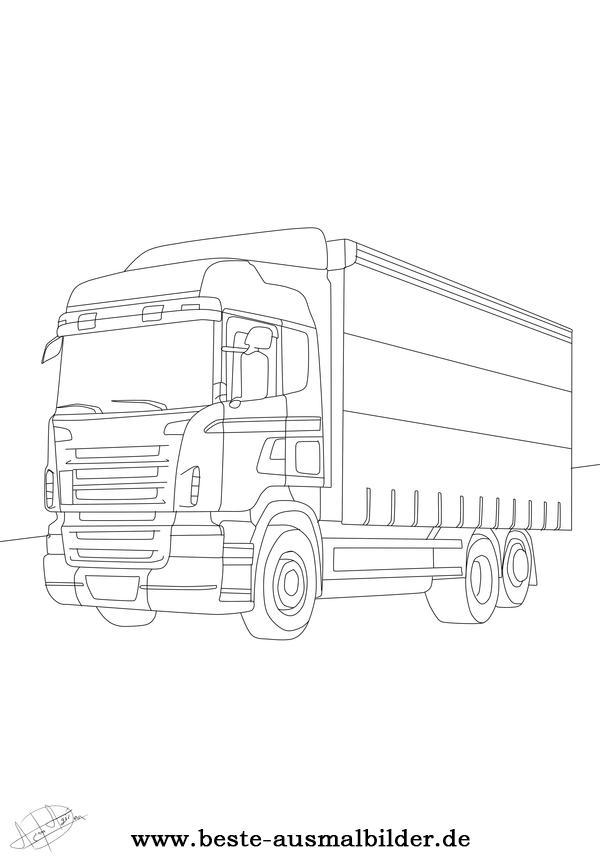 LKW Ausmalbilder- Malvorlagen von Autos und LKW-s kostenlos