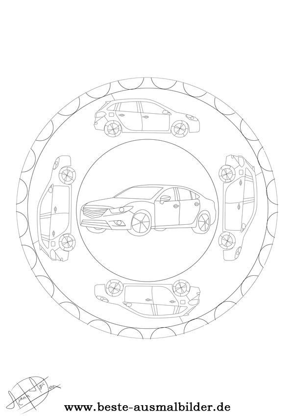 Auto Mandala Kostenlose Mandalas Von Fahrzeugen