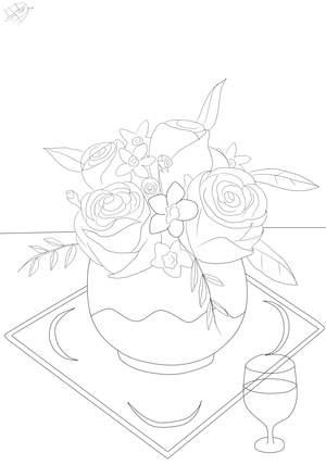 Malvorlagen Blumen - Kostenlose Ausmalbilder zum Ausmalen