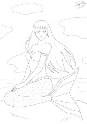 Ausmalbilder Meerjungfrau - Malvorlagen kostenlos für Kinder