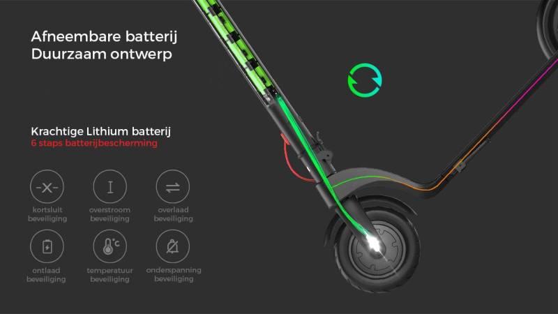 elektrische step x7 batterij