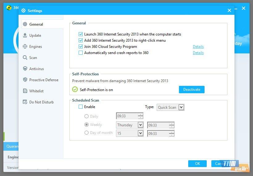 settings qiho internet security