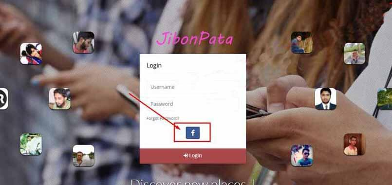 Sign up by facebook