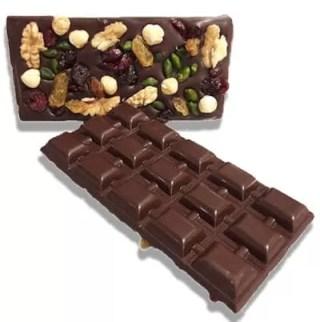 Pure chocolade reep met noten