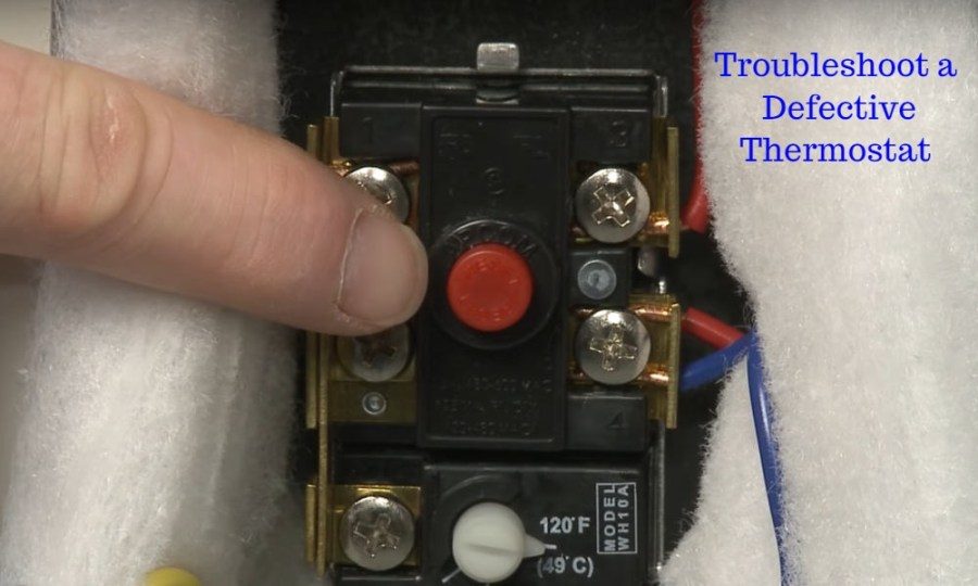 Troubleshoot a Defective Thermostat on an electric water heater