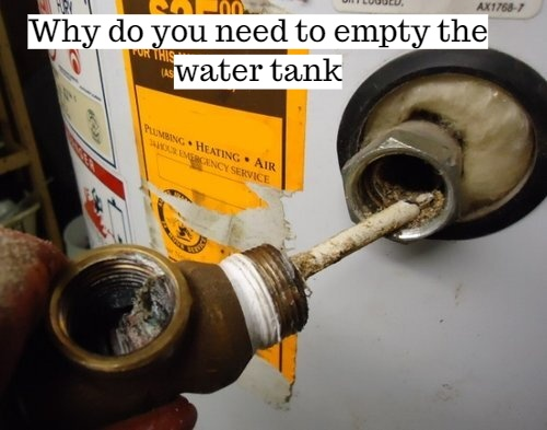 Why do you need to empty the water tank?