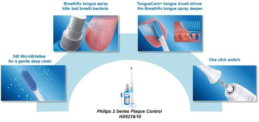 Philips Sonicare 2 Series Plaque Control HX6218 10