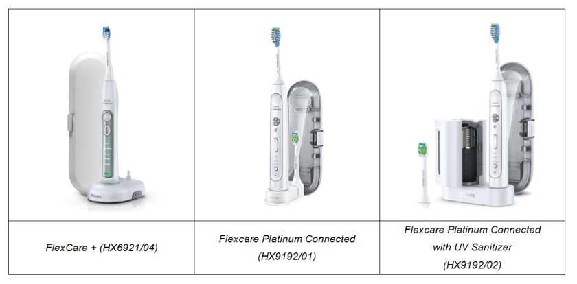 philips sonicare flexcare family