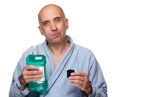 using mouthwash