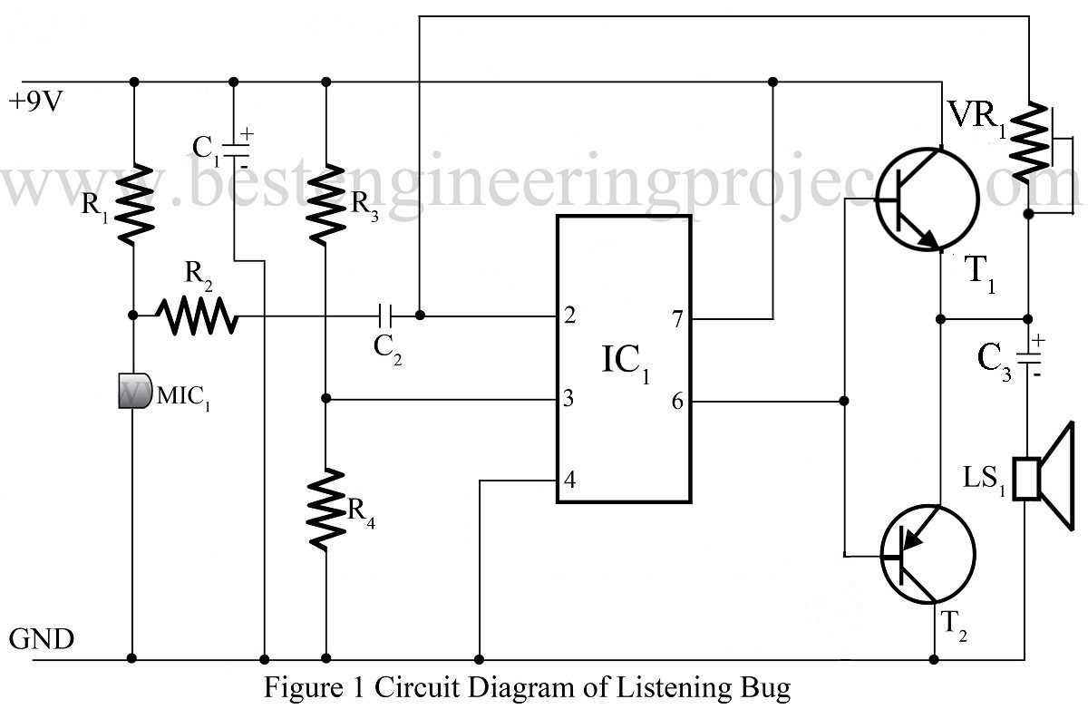Listening Bug Using op-amp 741