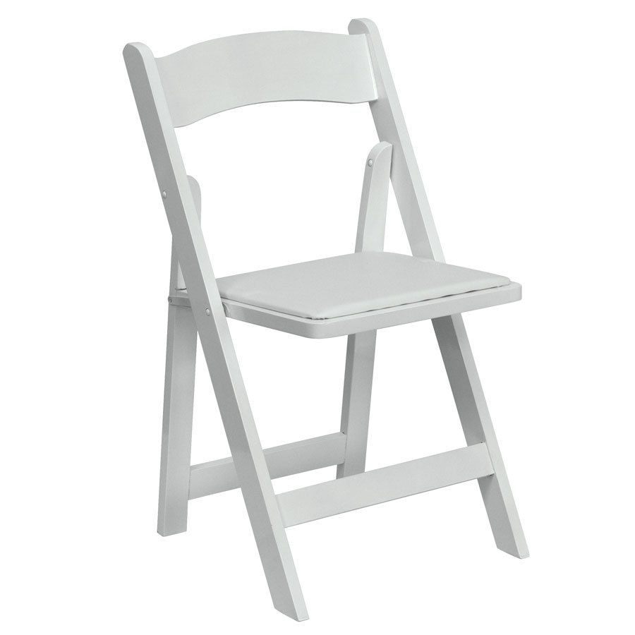 wooden folding chairs for rent how to measure a chair slipcover white padded rental fort collins wedding
