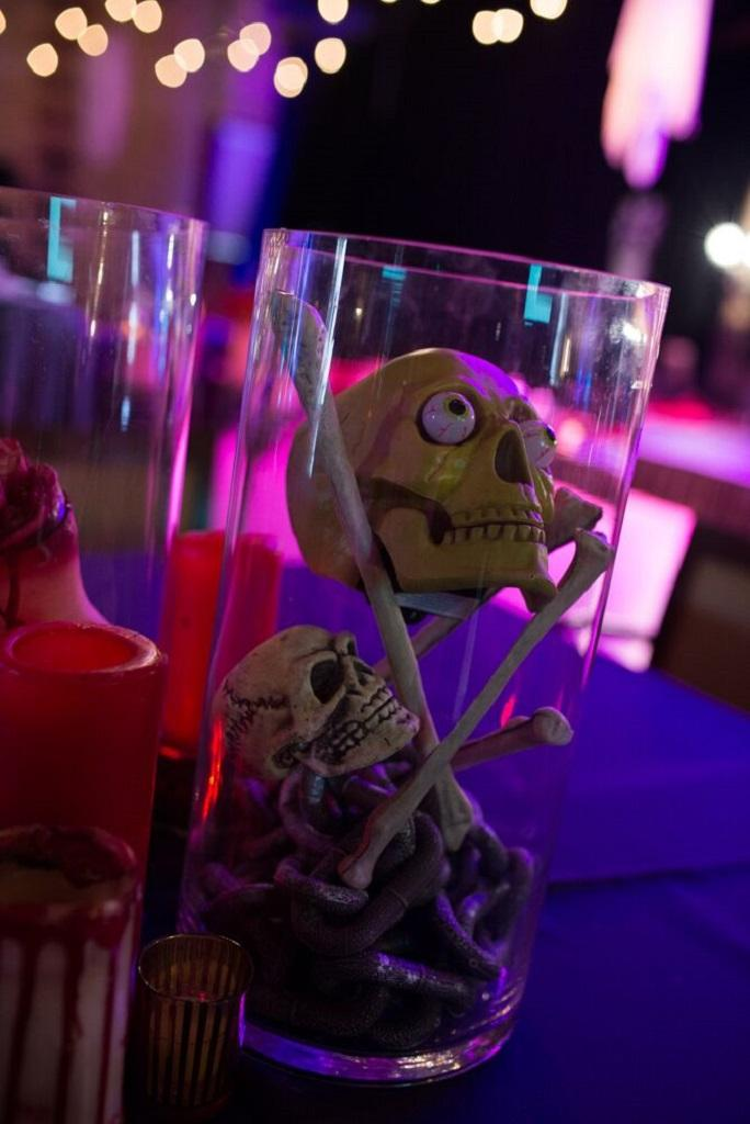Halloween Table Glass Decorations