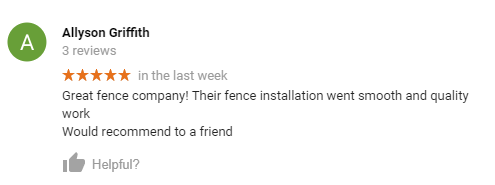 google review for fence builders san antonio