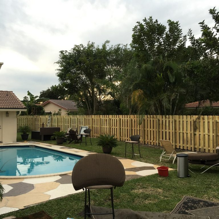 San Antonio Residential fence installation of wood fencing