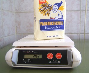 Weighing food on a Digital Kitchen Scale