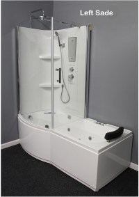 Shower Room with Deluxe Whirlpool Tub . 9045 Lux with air ...