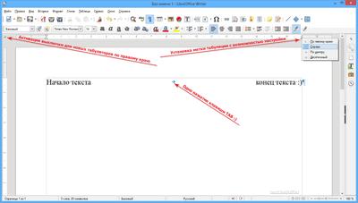 Tabulation i LibreOffice Writer