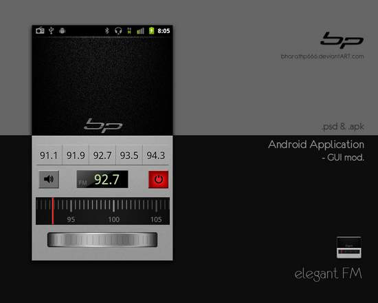 android gui 13 15 Fresh And Free Download GUI Kits for Android Developers