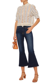 Cropped Flare Jeans by Frame in a dark wash