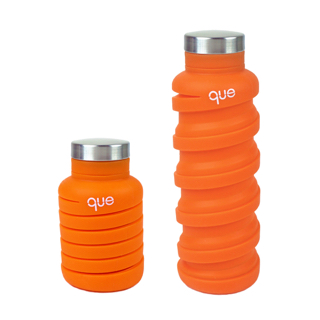Que Bottle Collapsable Water Bottle in Orange
