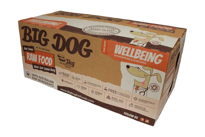 Big Dog BARF Dog Wellbeing Frozen Raw Dog Food - 3kg   Best Friends Pets