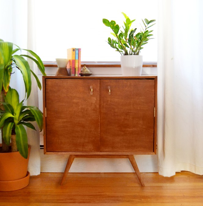 DIY Mid Century Inspired Air Conditioner Cover