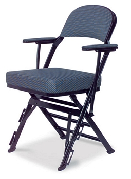 foldable chairs picnic computer desk and chair combo clarin manual uplift seat folding with arm rests, upholstered back seat, ...