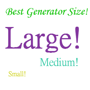 home generator size