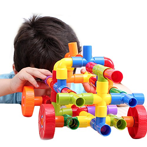 Bebamour 72pcs Water Pipe Plug Match Building Toys for