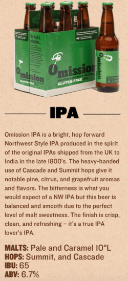 gluten reduced omission ipa best gluten free beers