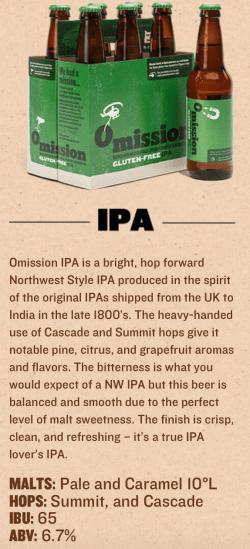 gluten reduced omission ipa best gluten free beers