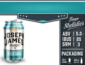 Joseph James Brewing Co. (Nevada, USA) gluten free beer Fox Tail pale Ale