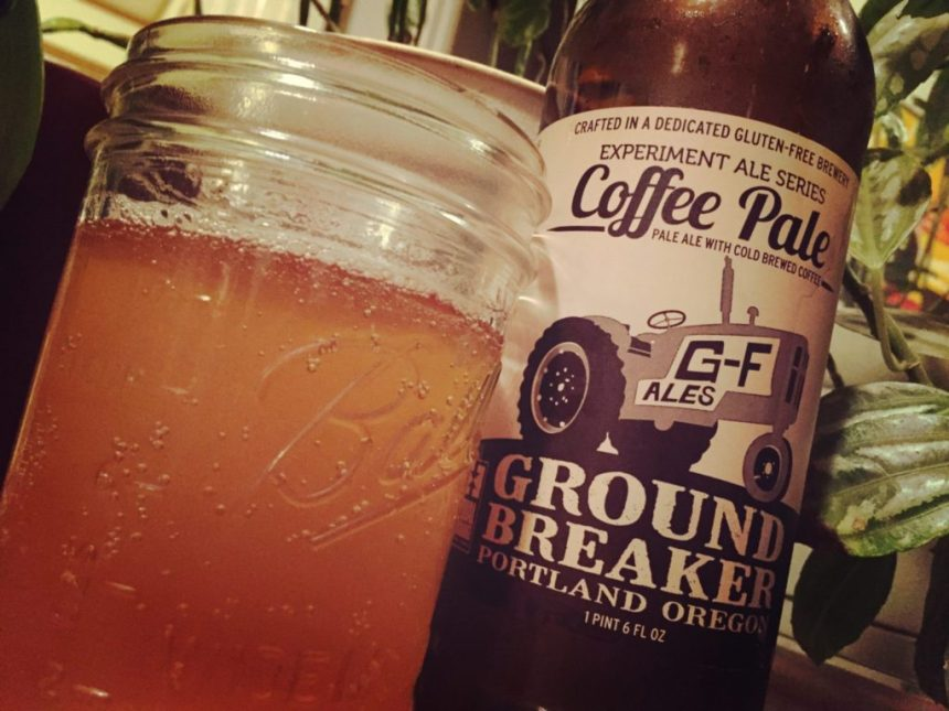 ground breaker coffee pale ale gluten free beer coffee pale ale beer review gluten intolerant
