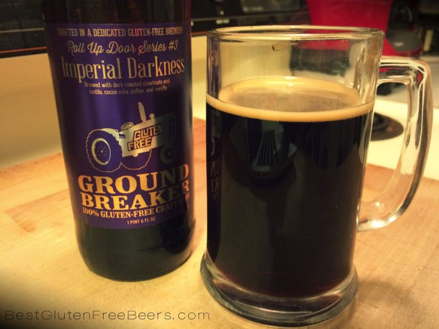 ground breaker imperial darkness gluten free beer review