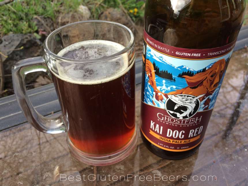 Gluten Free Beer Review: Ghostfish Brewing Kai Dog Red IPA