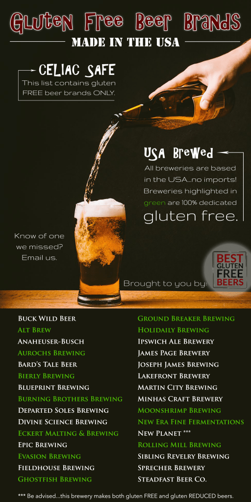 gluten free beer brands USA