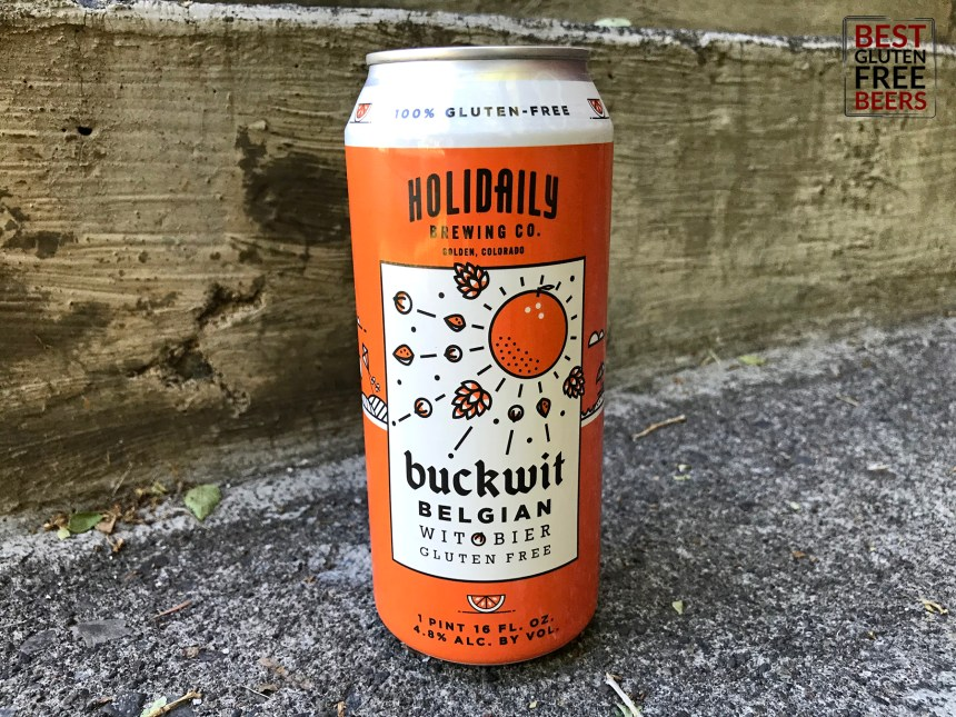 Holidaily Brewing Buckwit Belgian Witbier gluten free beer review