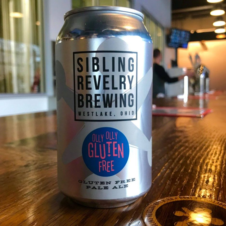 Sibling Revelry Brewing Olly Olly gluten free pale ale