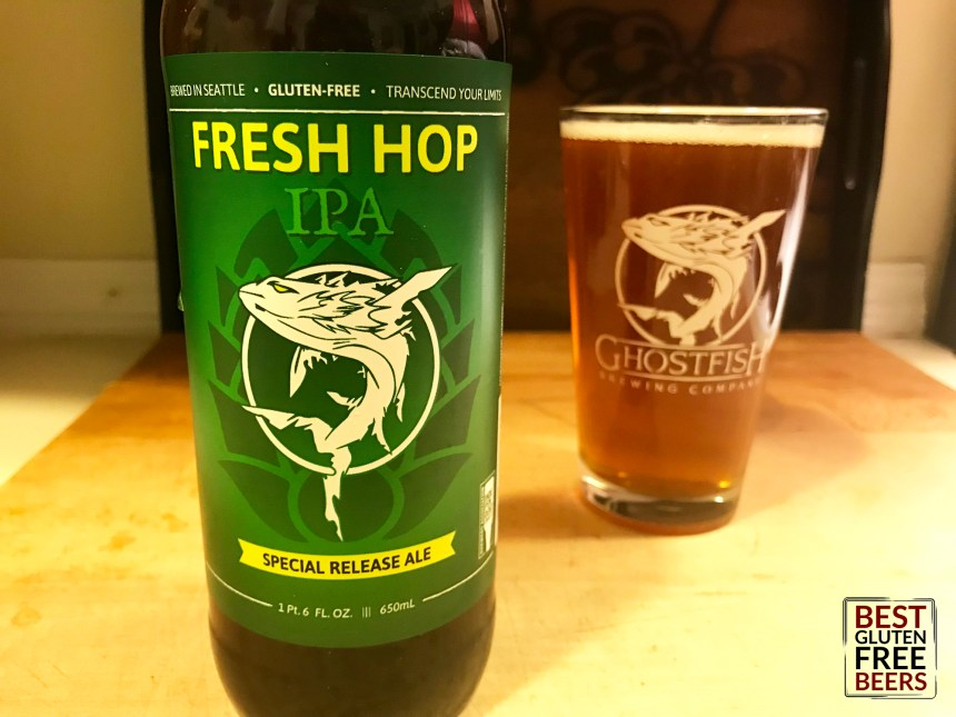 Ghostfish Fresh Hop 2018 gluten free beer reviews