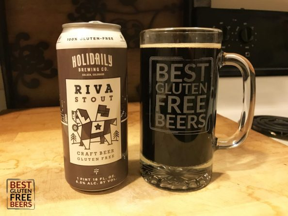 Holidaily Brewing Riva Stout gluten free beer reviewHolidaily Brewing Riva Stout gluten free beer review
