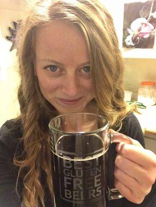 Holidaily Brewing Riva Stout gluten free beer review Lindsi Kay
